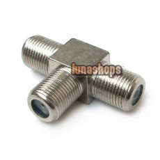 F Female to 2 two female jack triple T in series adapter