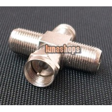 1 F Male to 3 F Female Jack Adapter Convertor