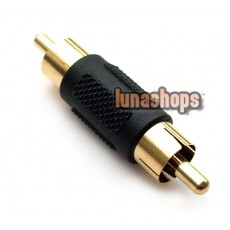 RCA AV Male To Male Audio Video Connector Adapter