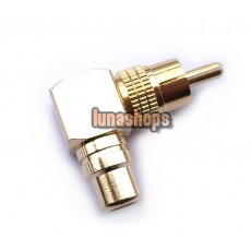 RCA Right Angle Female to Male Adapter 90 degrees