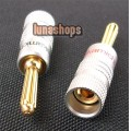 1 Pair Nakamichi Speaker banana plug connector 24K Gold