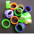 100PCS 12MM color bird chicken chook poultry Leg Rings