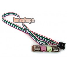 3.5mm Audio Earphone Mic USB Port Cable For PC ATX Mainboard