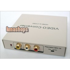 HDV-10 HDMI TO AV PAL NTSC CVBS Video Audio Convertor