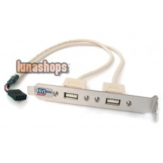 New 2 Port USB 2.0 Bracket Extension For MainBoard