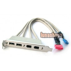 2 PORT USB 2.0+2 FIREWIRE IEEE 1394 6 PIN REAR BRACKET