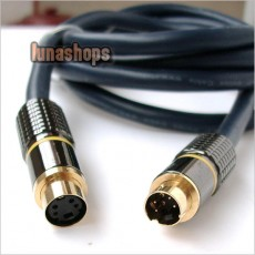 S-VIDEO 1.5M 5FT. PLUG 4 PIN SVHS MALE TO FEMALE CABLE