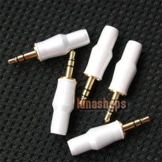 3.5mm DIY Plug Audio Cable Connector  male adapter White Color