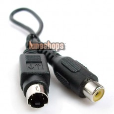 S-Video 4Pin 4 Pin Male to RCA Female Adapter Converter