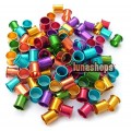 100PCS 8MM color aluminous bird dove pigeon Leg Rings 5 color