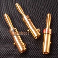 1pcs Pailiccs Home Theater Banana Adapters 24K Gold