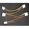 Molex Male to 4 Female Power Splitter IDE Y Cable PC