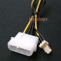 IDE to 3-pins CPU /Chasis /Case Fan Power Cable Adapter