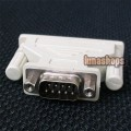 25-PIN DB25 FEMALE TO 9-PIN DB9 SERIAL MALE ADAPTER