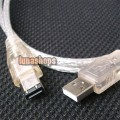 USB to IEEE 1394 4 to 6 pin Firewire i-Link DV Cable PC