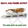 2 Ports SATA to ESATA + IDE Power Port Bracket for HDD