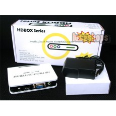 PC DVD VGA Video Audio to HDTV HDMI Converter Adapter