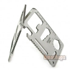 11 in 1 Pocket Stainless Army Survival Multi Tool Card