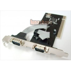 New Dual 2 Ports Serial RS232 PCI Expansion Card