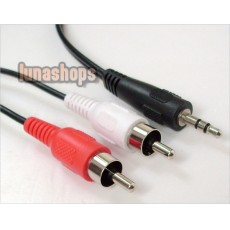 High quality 3.5mm Stereo Plug Male To RCA Audio Cable