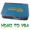 PC DVD HDTV HDMI to VGA Video Audio Converter Box