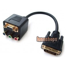 DVI-I 24+5 Male TO VGA RCA RGB AV Female CABLE Splitter
