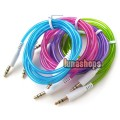 Silver Plated Colorful 3.5mm Male to male Stereo audio cable