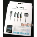 iPhone 4 4G 3GS 3G iPad USB to TV RCA Audio Video Cable