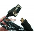 MINI HDMI Male to VGA HD-15 M Cable DVD HDTV TV 15 pins
