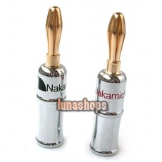 2 Pieces, Nakamichi Banana Plug Connector Gold Plated Speaker QD-444