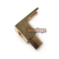 1 pcs Audio Plug Connector 24K Gold Plated Repair Parts