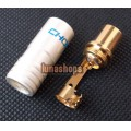 1PCS 24K Gold Plated TV RF FR-45e Male Plug Adapter Choseal