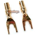 2pcs Advanced Version NAKAMICHI Amplifier Cabinet SPADE FORK Adapter