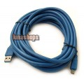 500CM USB 3.0 A to Mini B Male to Male 10 Pin Cable Blue