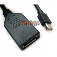 Mini Displayport DP Male to DP Female Cable Adapter Convertor