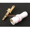 Classic Pure White Pailic Pailiccs Plug Audio Cable Connector 3.5mm male adapter