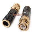 LITON BNC LT-566 Male Plug Golden Plated solder type Adapter For DIY CCTV