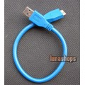 30cm USB 3.0 Male Type A to Micro B Plug Super-Speed Cable Adapter Converter