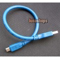 30cm USB 3.0 A to Mini B Male to Male 10 Pin Cable Blue