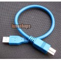 30cm USB 3.0 Type A/B male Super-speed cable for printer scanner modem