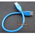 30cm USB 3.0 AM Male to Female Extension Cable