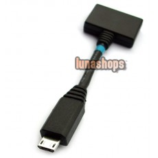 1 Micro USB Male to 2 Female Y Splitter Cable Adapter For Mobilephone Handfree