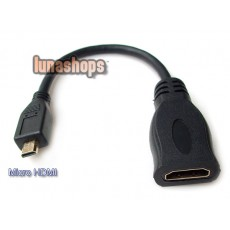 Short Micro HDMI Male To Standard HDMI Female Adapter Cable Converter