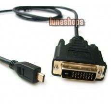 100cm Micro HDMI Male to DVI 24+1 Male Cable for EVO 4G,XT800,Mobilephone