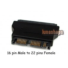 "22 pin Female 2.5"" IN SATA to 16 pin Male 1.8"" IN Micro Adapter convertor"