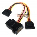 15 Pin SATA to SATA Male Female 2pcs 4 Pin IDE Female Cable