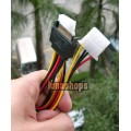 Serial ATA 15 Pin SATA Male plug to 2 pcs 4 Pin IDE Female jack Power Cable