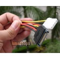 Serial ATA 15 Pin SATA Male plug to 4 Pin IDE Female jack Power Cable