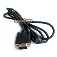 Mini USB Male 5 pin To VGA D-SUB 15 pins Male Adapter Cable For Mobile DVD EVD
