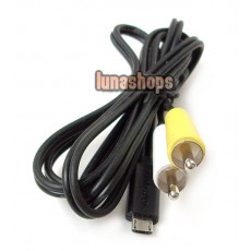 Micro USB Male To 2 RCA AV Audio Video Cable For Samsung Moblilephone